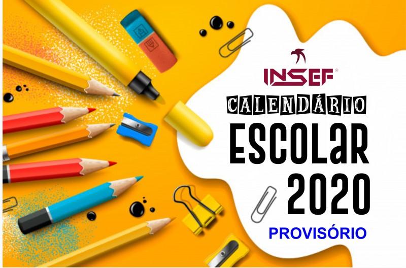 Calendário Escolar Provisório 2020